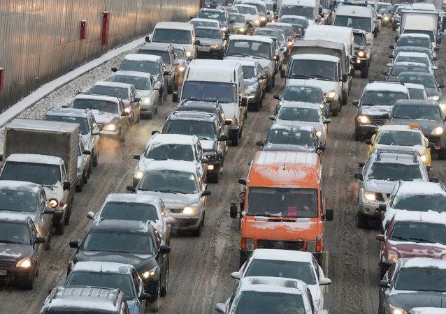 调查:莫斯科交通拥堵程度全球第二