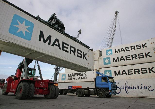 丹麥馬士基公司集裝箱船在印度西部拉克沙群島區域發生爆炸