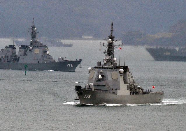 媒体:两艘日舰向太平洋美国海军提供保护