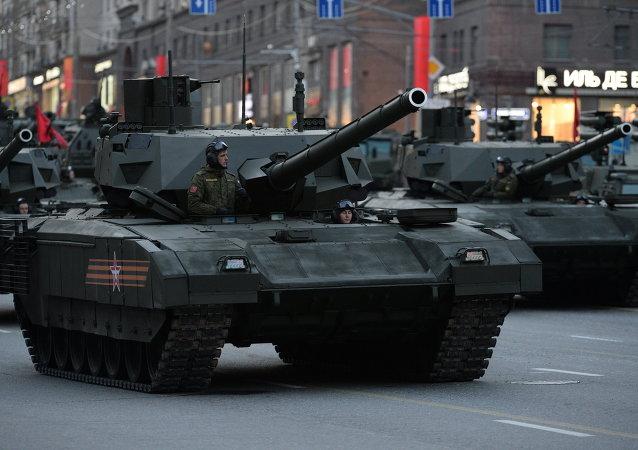 """俄罗斯""""阿尔马塔""""坦克"""