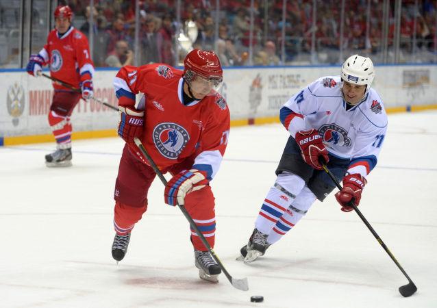 普京5月10日将在索契参加夜间冰球联赛的比赛