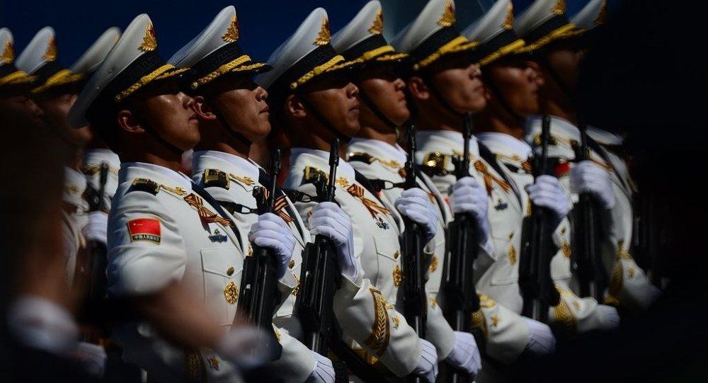 中国军人在莫斯科红场