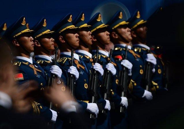 中国人民解放军三军仪仗队官兵再度参加莫斯科红场阅兵