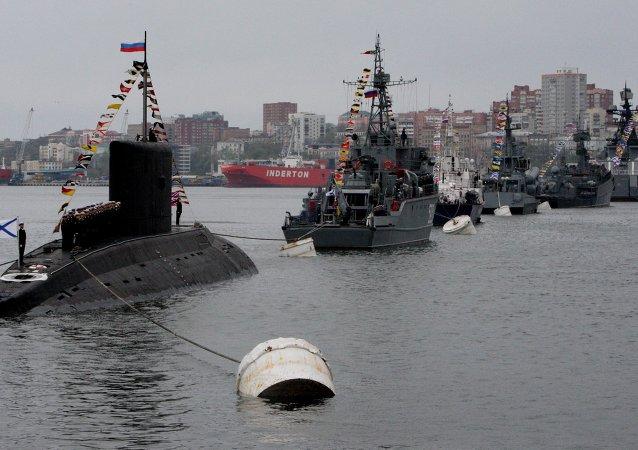 俄罗斯太平洋舰队举行活动庆祝胜利日