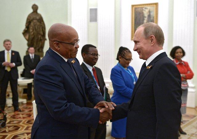 俄罗斯与南非总统商讨金砖银行筹建工作进展