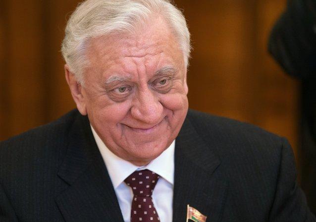 白俄罗斯国民议会共和国院(议会上院)主席米哈伊尔·米亚斯尼科维奇