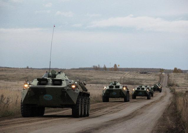 集安组织集体快速反应部队在塔吉克斯坦演练各部门配合