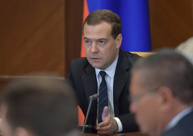 俄罗斯总理德米特里•梅德韦杰夫