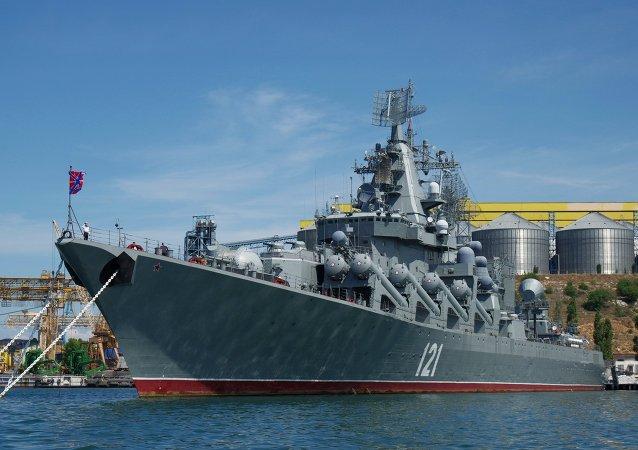俄黑海舰队旗舰赴地中海参加俄中海上军演