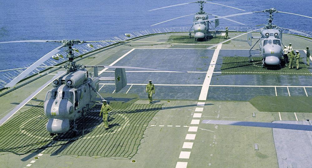 俄中地中海演习联合指挥部演练舰艇通信科目