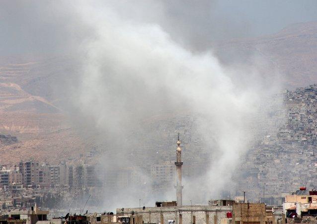 俄罗斯驻大马士革大使馆遭到炮弹袭击