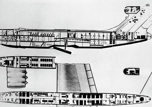 地效飞行器的示意图