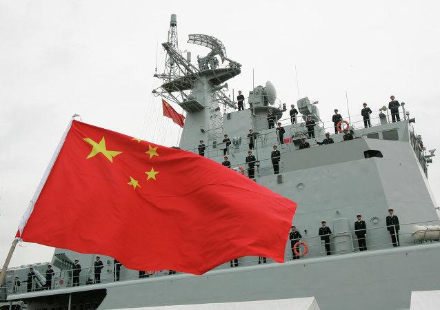 中國海軍在日本海開啓實兵對抗演練