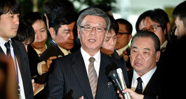 冲绳县知事欲说服美国不要修建军事基地