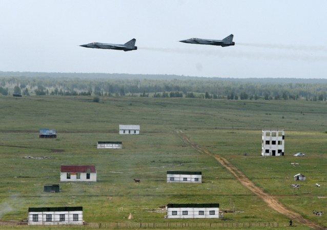 俄罗斯空天部队参加演习
