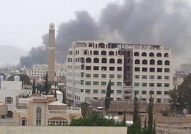 阿拉伯联盟对也门情报部门总部大楼实施两次空袭