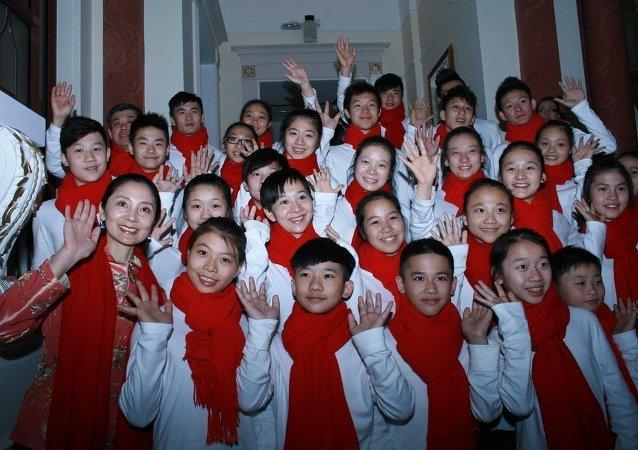 中国儿童代表团