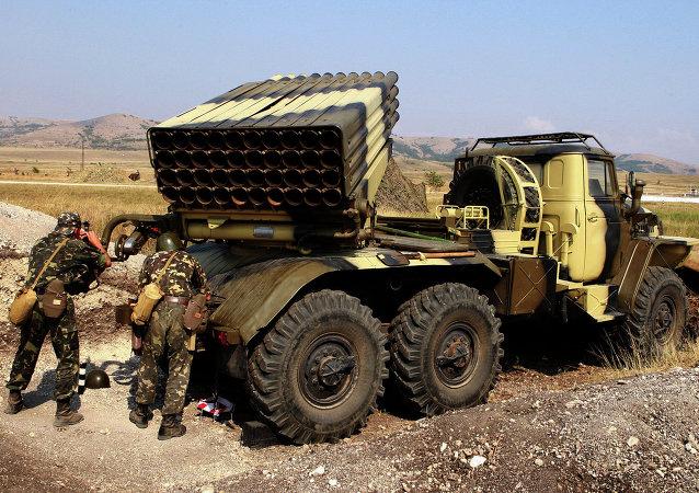"""顿涅茨克人民共和国称记录到乌军使用""""冰雹""""多管火箭炮"""