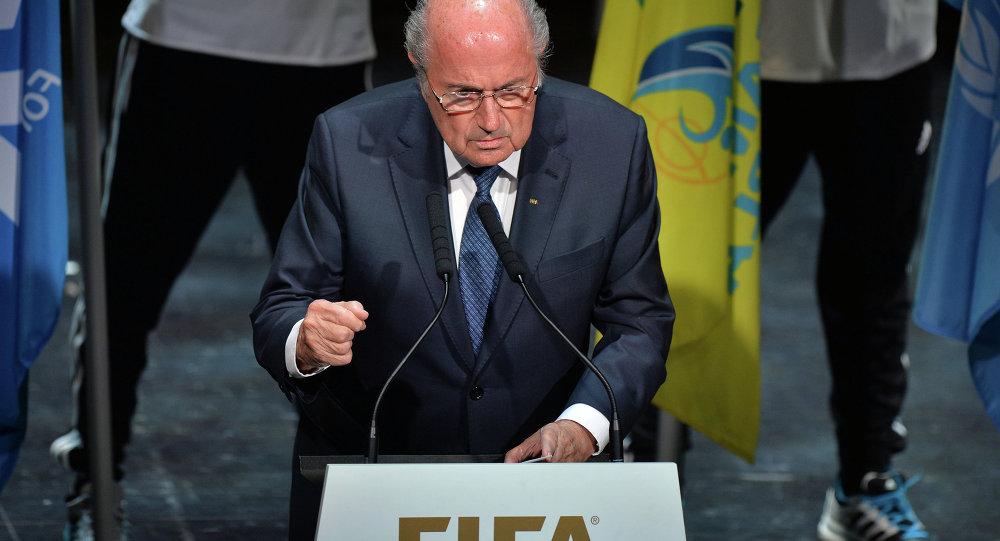 国际足联主席布拉特宣布该组织大会开幕