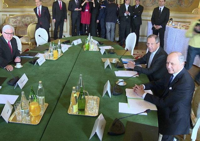 """爱丽舍宫: """"诺曼底模式""""四国外交部政治司长级别会谈将于6月10日在巴黎举行"""