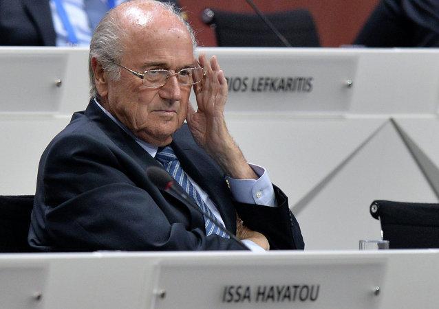国际足联主席拒绝回答有关该组织腐败丑闻的问题