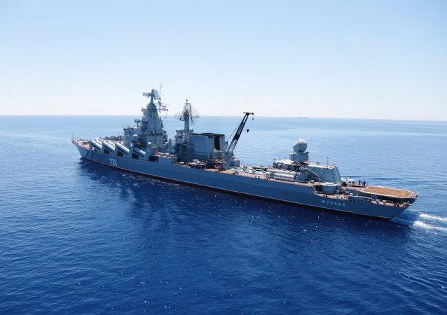 俄黑海舰队舰艇驶入埃及亚历山大港