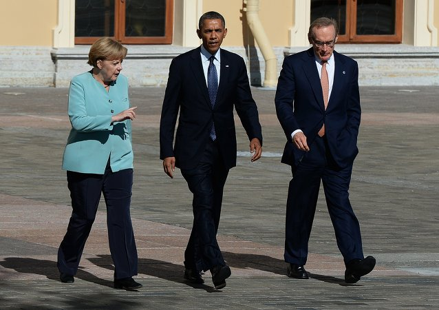 奥巴马和默克尔/资料图片/