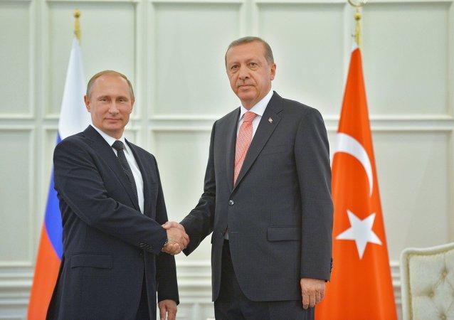 俄土两国总统在巴库举行闭门谈判