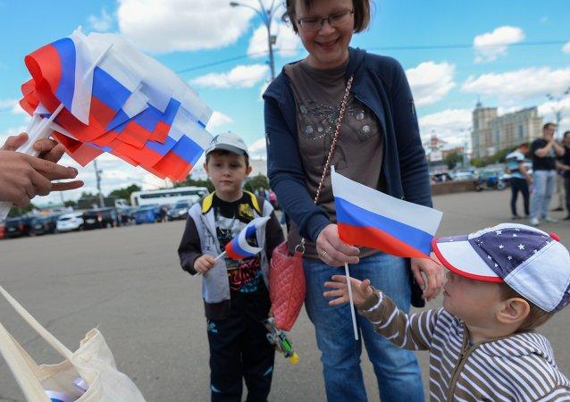 约45万人在莫斯科参加国庆活动