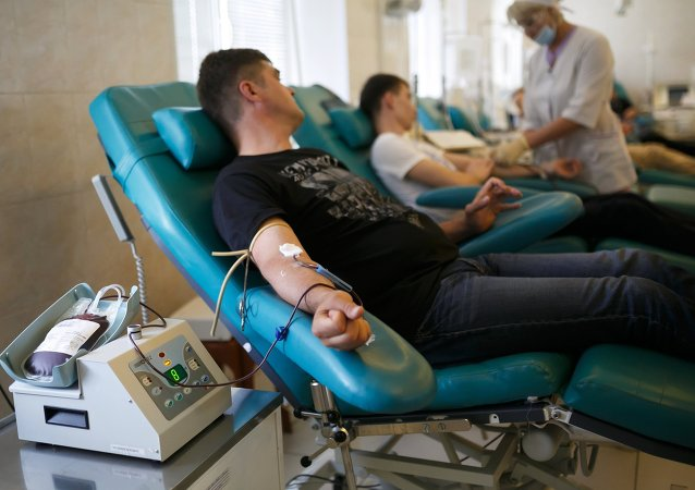 俄卫生部:2014年俄献血者数量同比增加0.7%