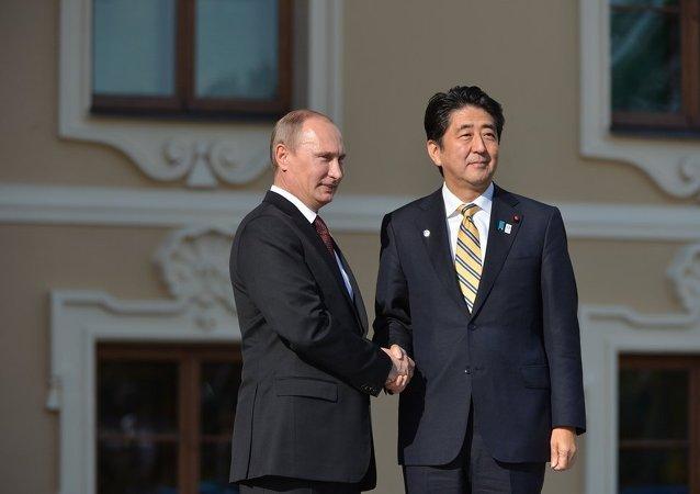 普京与日本首相安倍
