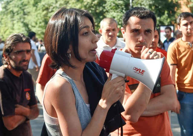 在埃里温的抗议活动