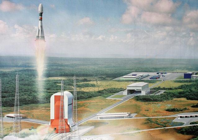 库鲁航天发射中心(圭亚那航天中心)的模型