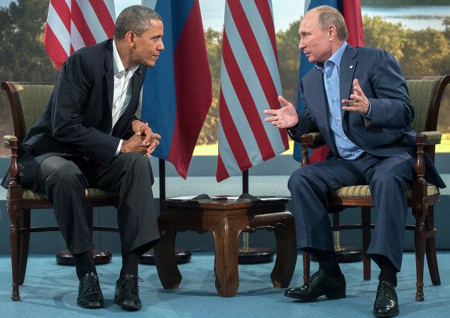 美国总统奥巴马和俄罗斯总统普京/资料图片/