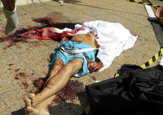 匪徒袭击后的遇难者