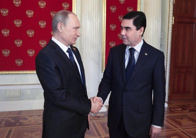 弗拉基米尔•普京和库尔班古力•别尔德穆哈梅多夫
