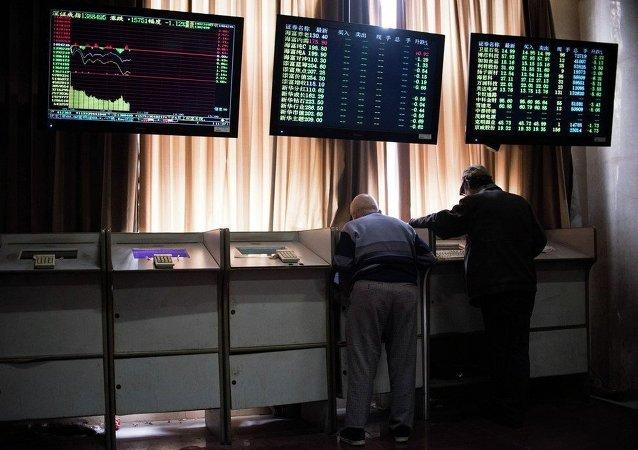 中国股市一片恐慌