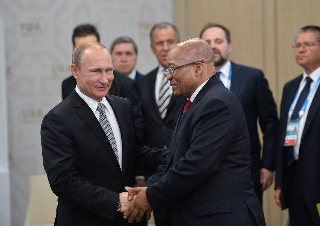 普京称南非是俄罗斯在非洲的主要战略伙伴