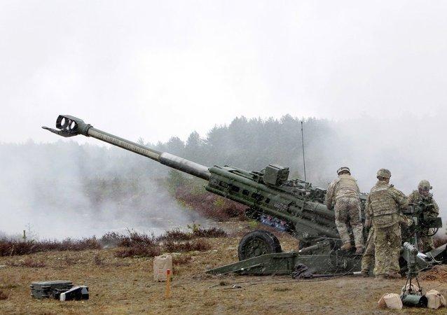 北约部队在拉脱维亚