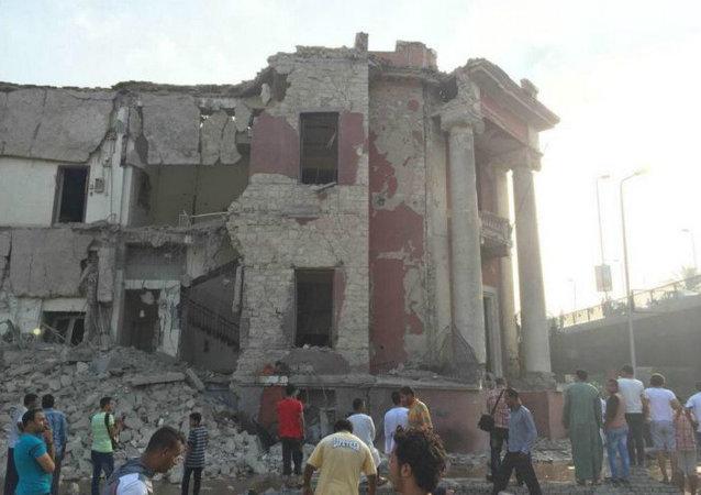 意大利驻开罗领事馆旁爆炸造成1死4伤