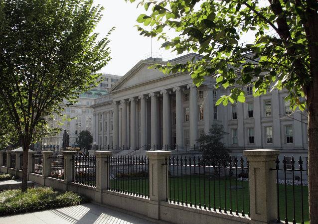 在华盛顿的美国财政部大楼