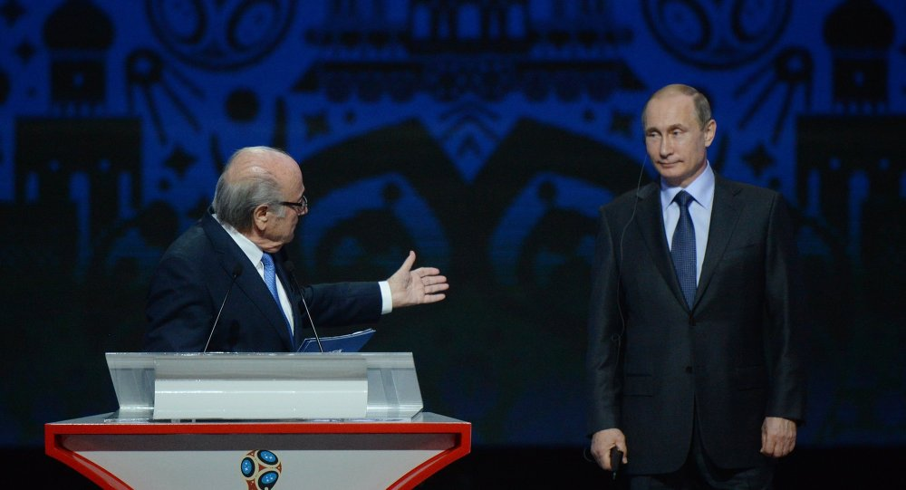 普京:在俄举办2018年世界杯会提高足球在该国的普及性