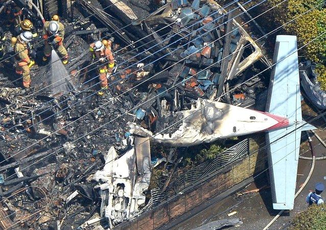 东京附近发生飞机失事,造成3人死亡,5人受伤