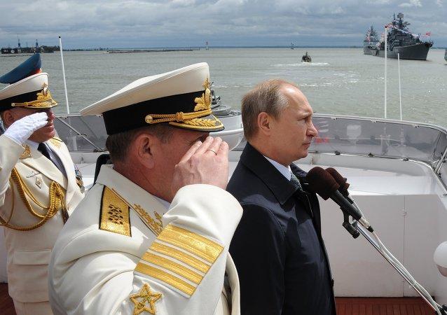 普京:俄海军成功保障俄国防能力