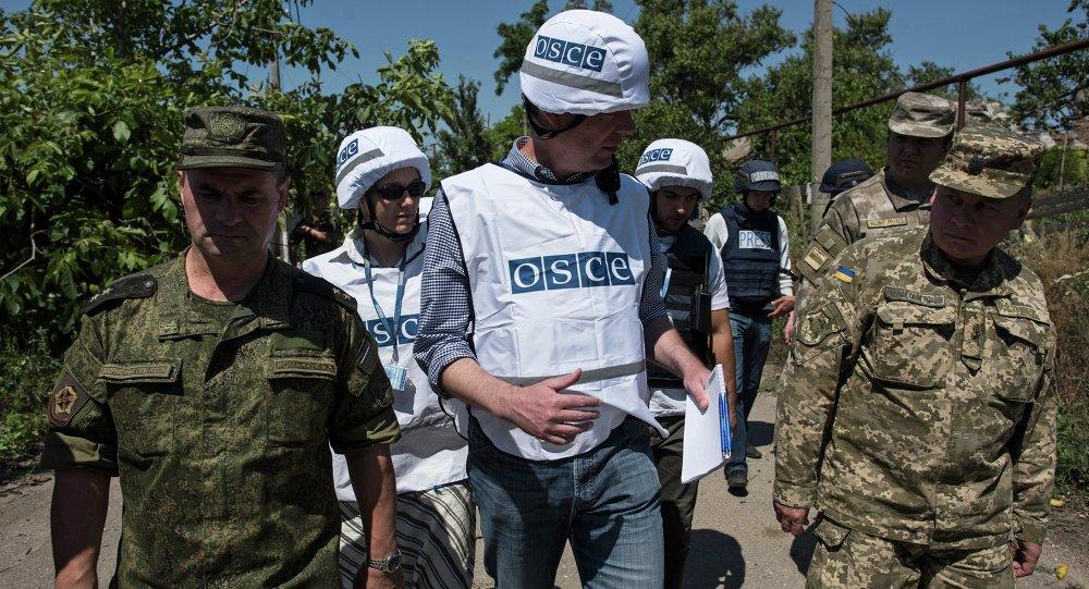 欧安组织:乌军与卢甘斯克民兵指挥官面谈停火协议执行情况