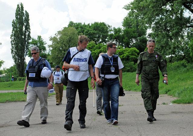 俄安全局:乌特工部门非法利用欧安组织使团在卢甘斯克人民共和国搞破坏
