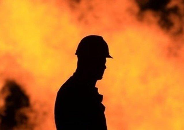 喀山火药厂火灾面积达到200平米