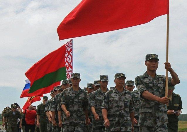 俄中白三国军事侦察员已开始进行