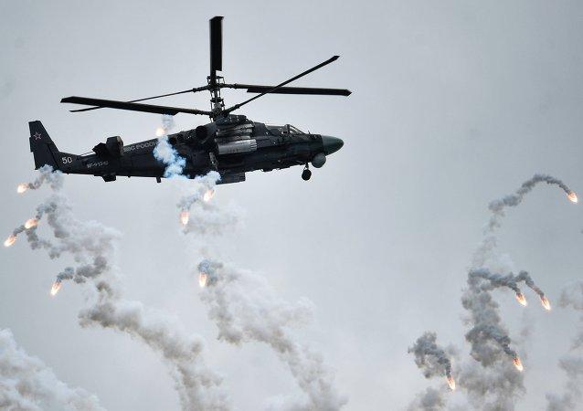 """为""""西北风""""级制造的卡-52K直升机将首次在马克斯航展上亮相"""