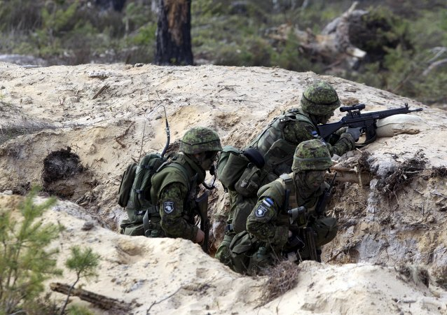 """""""军刀出击""""大型军演在爱沙尼亚开幕"""